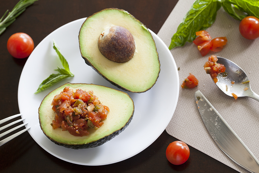 Avocado and salsa