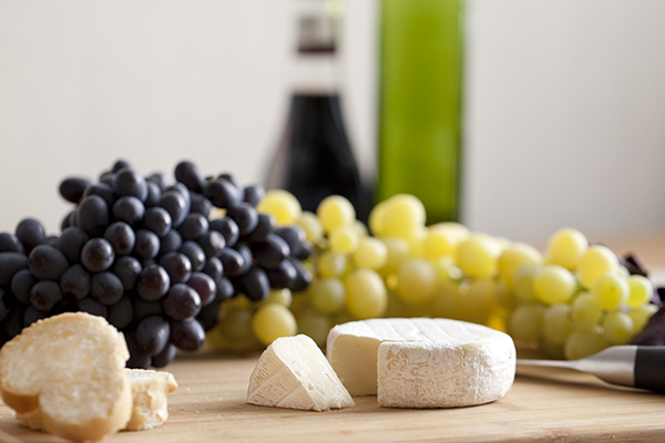 Grapes and brie